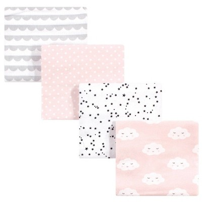 Hudson Baby Unisex Baby Cotton Flannel Receiving Blanket - Pink Clouds One Size