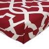 Outdoor Chaise Lounge Cushion - Red/White Geometric - image 3 of 4