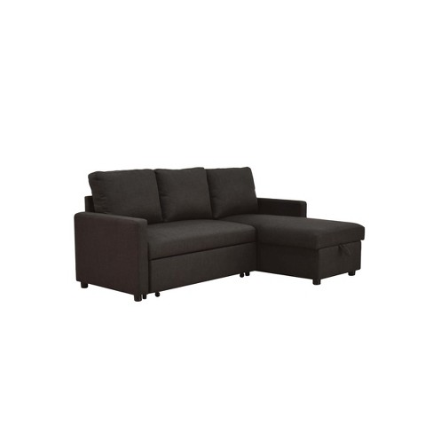 Pleasant Hiltons Sectional Sofa With Sleeper Charcoal Acme Andrewgaddart Wooden Chair Designs For Living Room Andrewgaddartcom