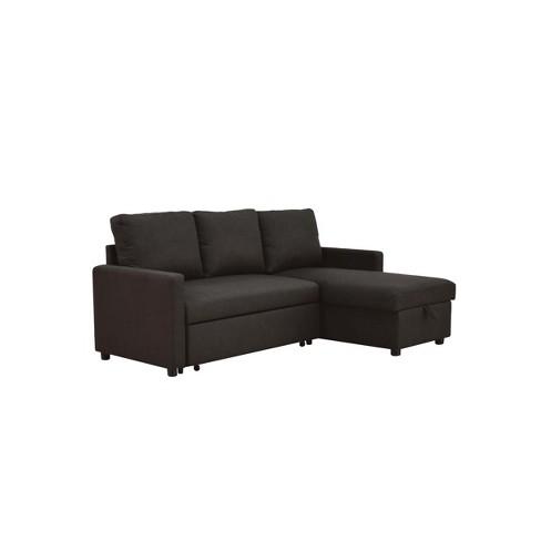 Hiltons Sectional Sofa with Sleeper Charcoal - Acme