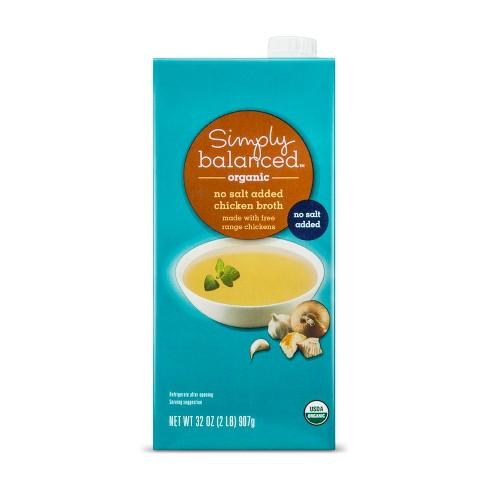 Organic No Salt Added Chicken Broth 32oz - Simply Balanced™ - image 1 of 1