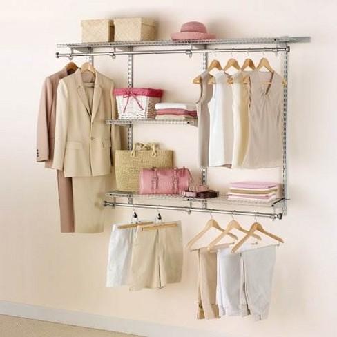Rubbermaid Configurations 3 6 Feet Custom Diy Closet Organizer Kit Titanium Target