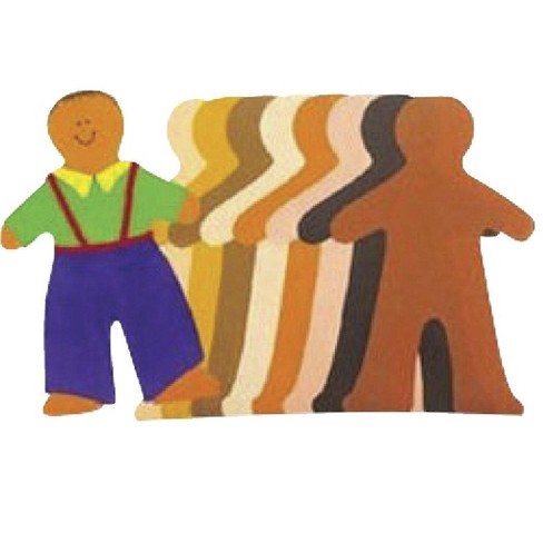 Roylco Paper Doll Pads, 8 x 10 Inches, Assorted Skin Tones, pk of 40 - image 1 of 1