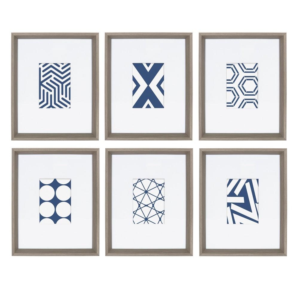 "Image of ""12.25""""x15.5"""" 6pc Calder Decorative Wall Art Set Gray - Kate & Laurel"""