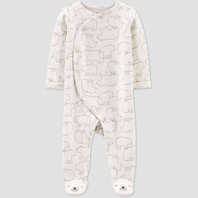 Baby Quilted Bear Sleep 'N Play Pajama - Just One You® made by carter's Ivory 6M