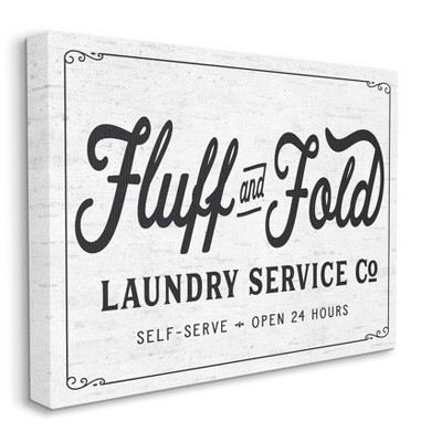 Stupell Industries Fluff and Fold Laundry Room Vintage Country Sign