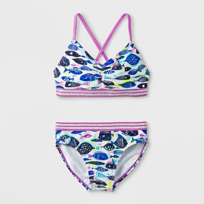 Girls' Oceanic School Bikini Set   Cat &Amp; Jack™ Lavender by Cat & Jack