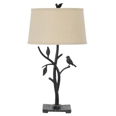 "29"" 3-way Medora Iron Table Lamp Black - Cal Lighting"