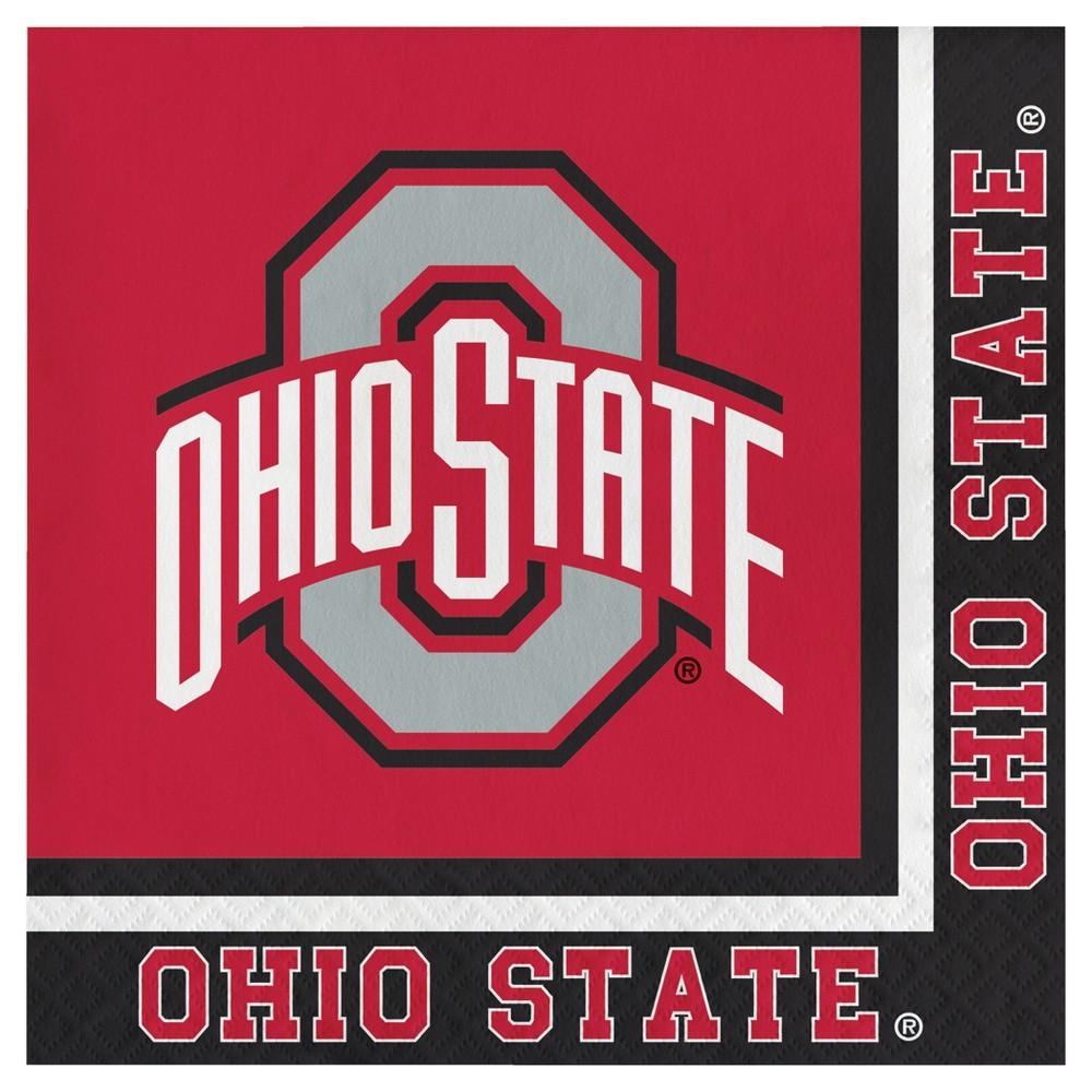 Image of 20ct Ohio State Buckeyes University Napkins