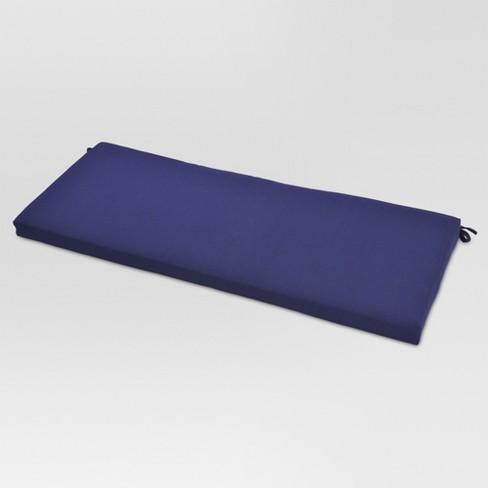 Sensational Outdoor Bench Cushion Navy Threshold Cjindustries Chair Design For Home Cjindustriesco