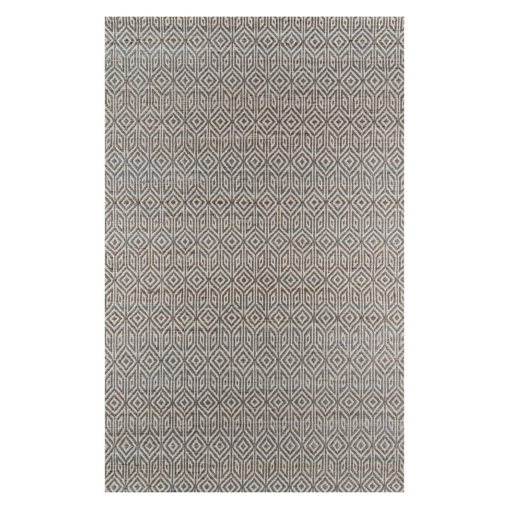 5'X8' Geometric Woven Area Rug Gray - Momeni