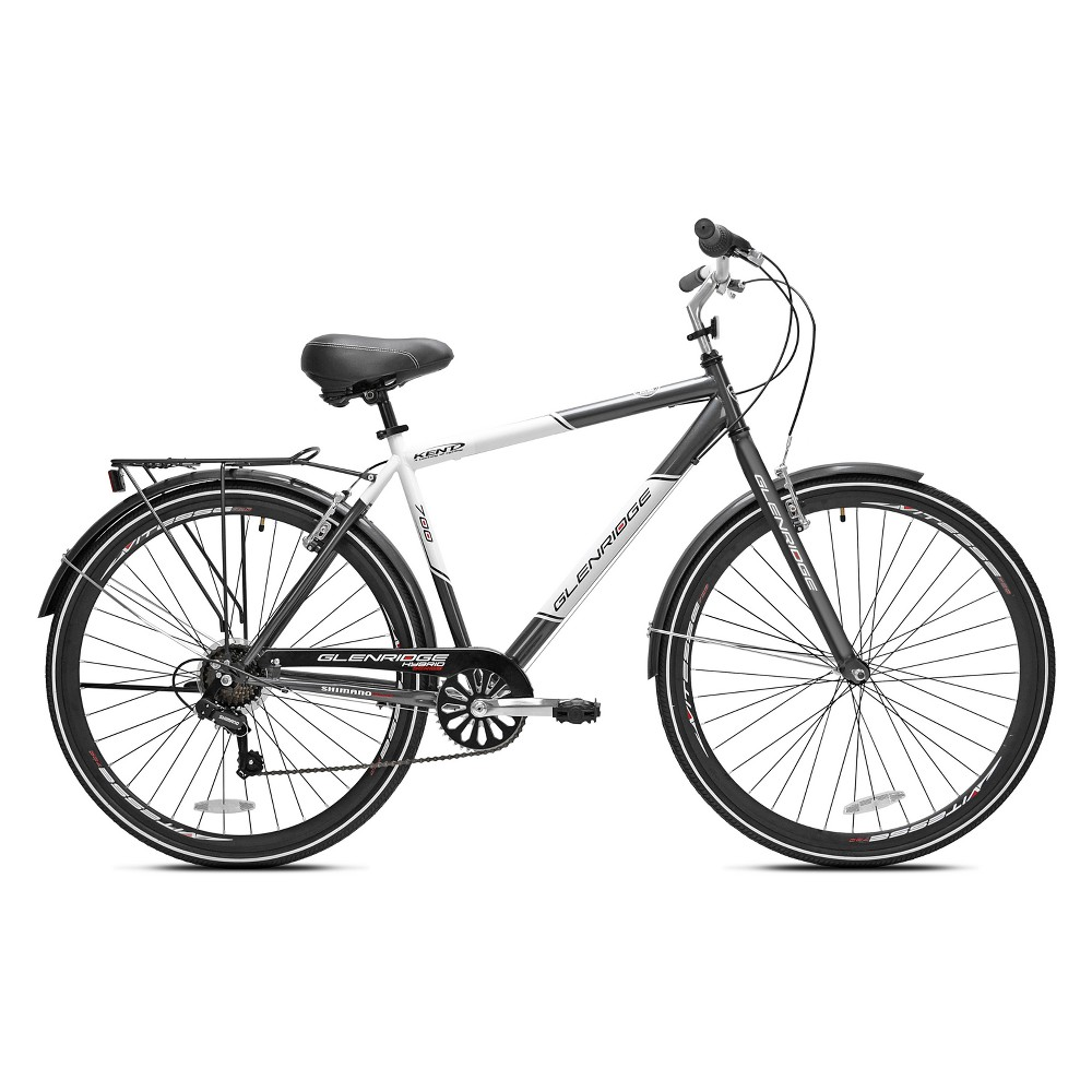 Kent Glenridge Men's 28 700c Hybrid Bike - Gray/White
