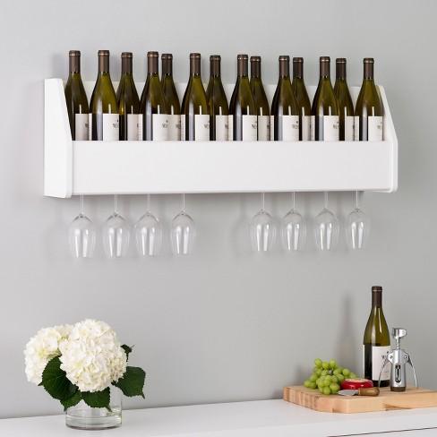 Floating Wine Rack White - Prepac : Target