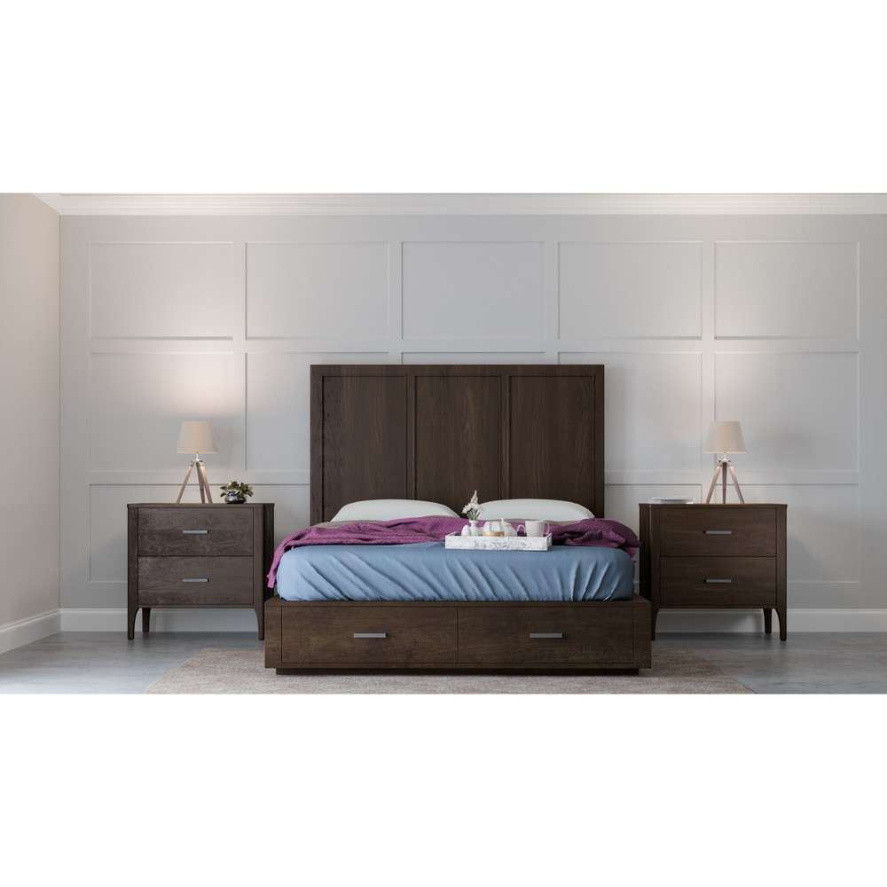 Image of 3Pc Cami Bedroom Set Queen Brown - Abbyson Living