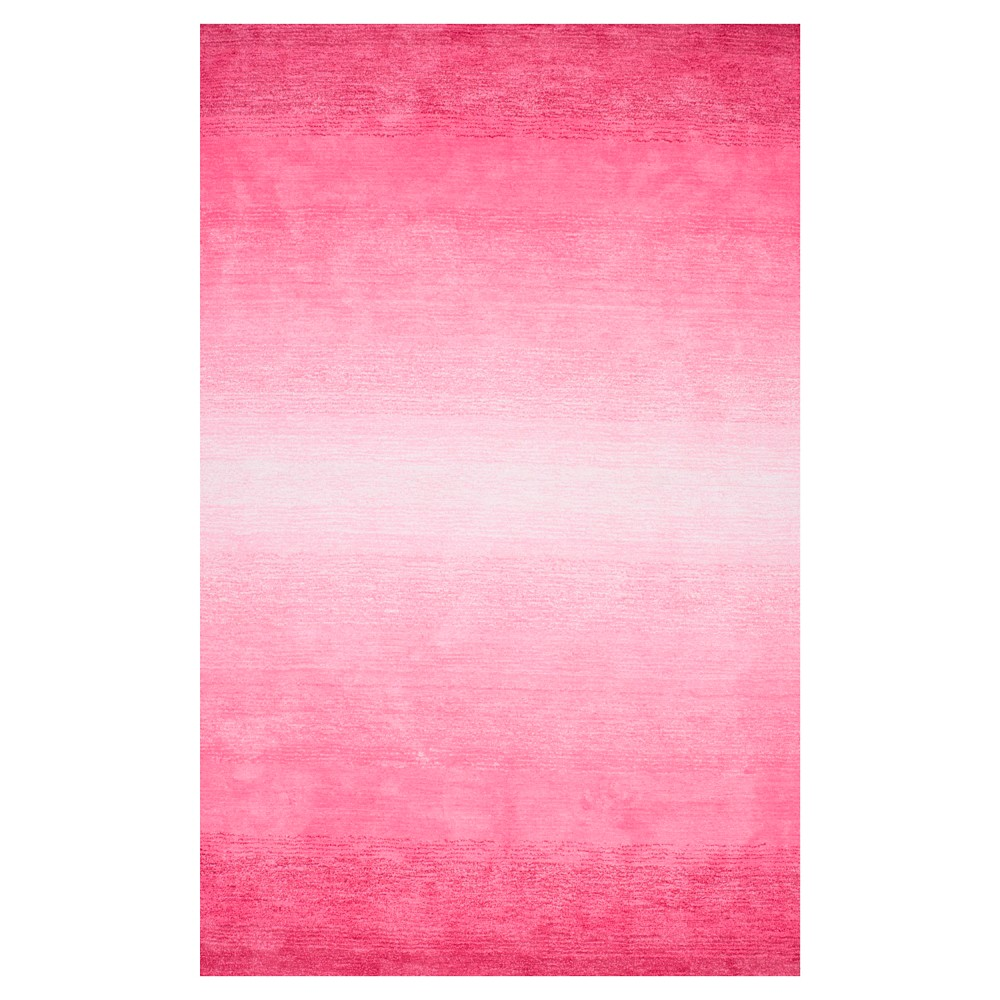 Nuloom Hand Tufted Ombre Bernetta Area Rug Pink 5 X 8