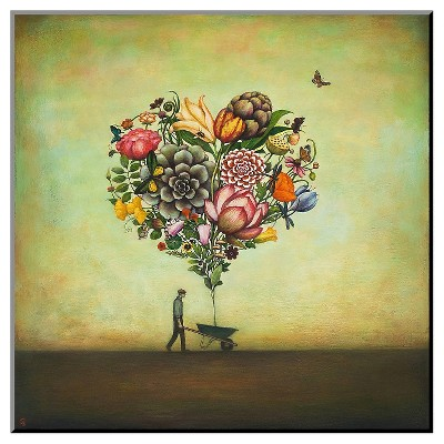 Big Heart Botany Mounted Print