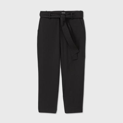 Women's High-Rise Tie Waist Straight Pants - A New Day™ Pants