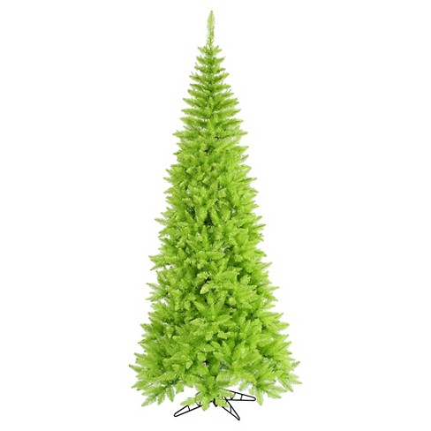 6.5ft Un - Lit Artificial Christmas Tree Slim Fir - Lime - image 1 of 1