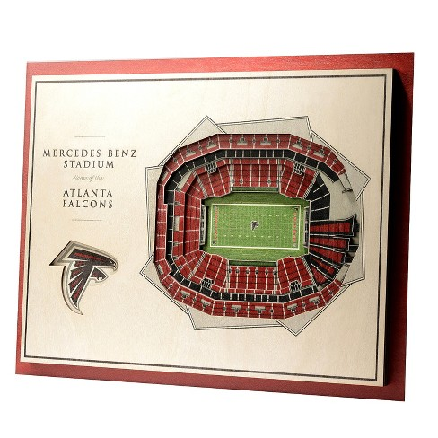 NFL Atlanta Falcons 5-Layer StadiumViews 3D Wall Art - image 1 of 5