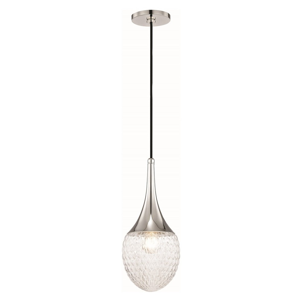1pc Bella Light Pendant Style A Brushed Nickel - Mitzi by Hudson Valley