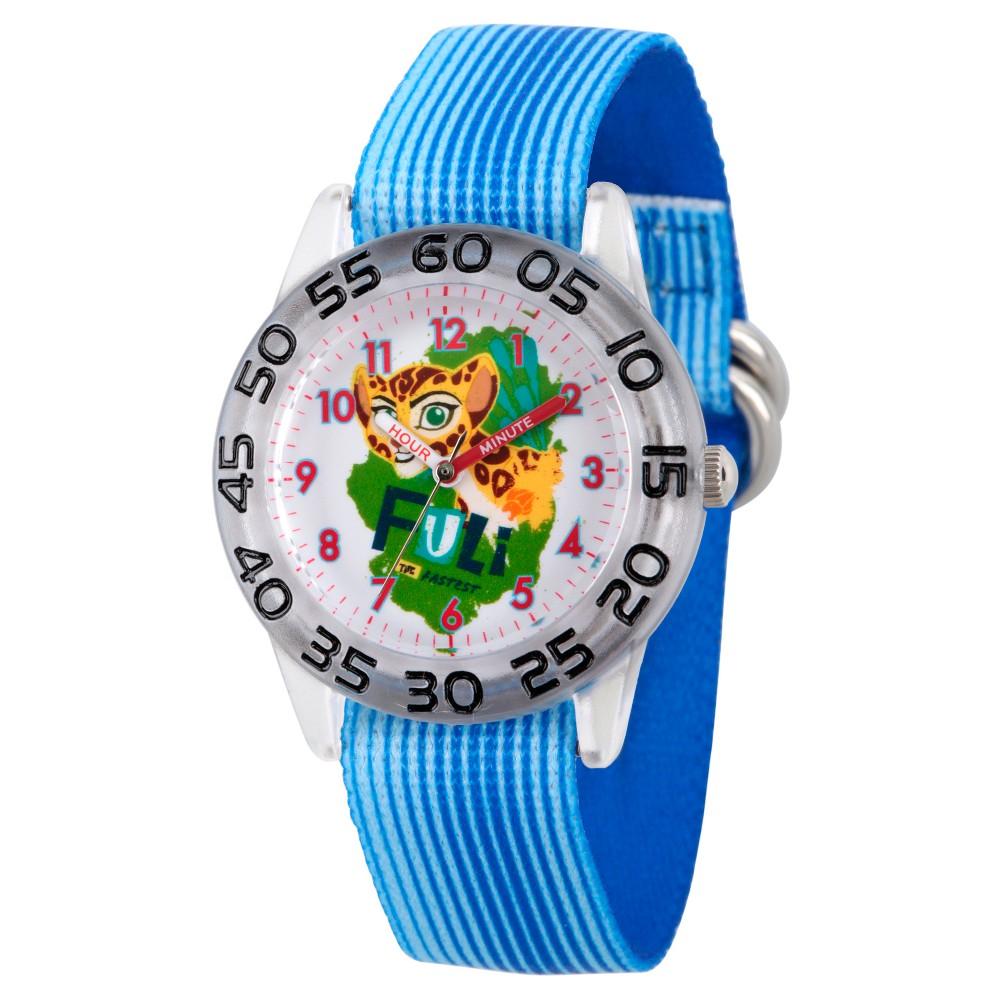 Girls' Disney Lion Guard Fuli Plastic Time Teacher Watch - Blue