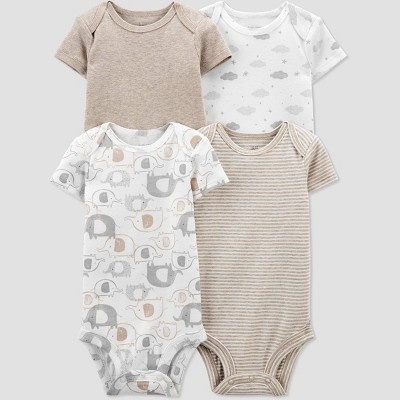 Baby 4pk Elephant Bodysuit - Just One You® made by carter's Gray