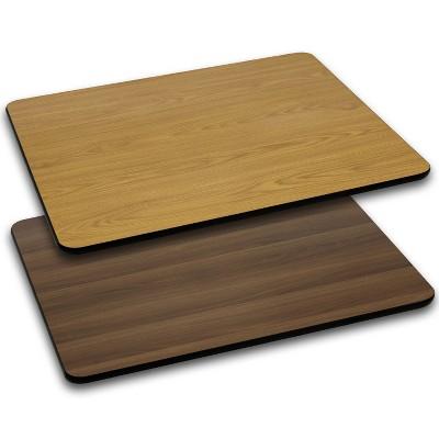 Flash Furniture 30'' x 48'' Rectangular Table Top with Reversible Laminate Top