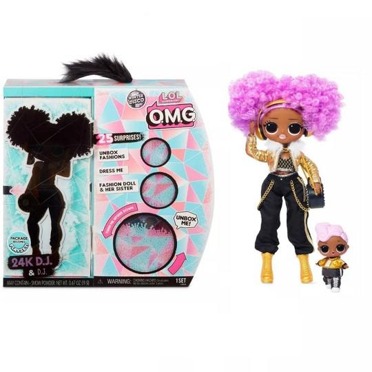 L.O.L. Surprise! O.M.G. Winter Disco 24K D.J. Fashion Doll & Sister image number null