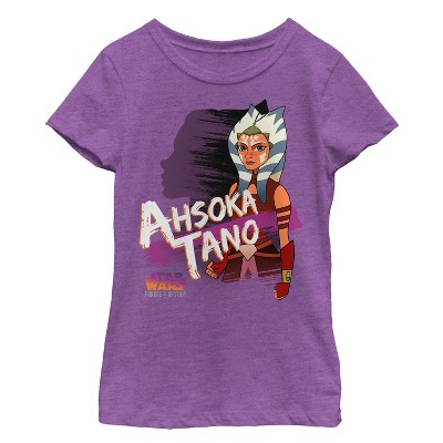Girl's Star Wars Forces of Destiny Ahsoka Shadow T-Shirt