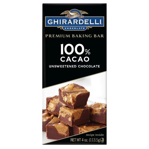 Baking Bar Ghirardelli - 100% Cacao - 4oz - image 1 of 3