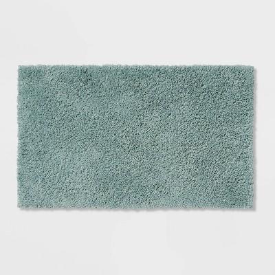 "20""x34"" Antimicrobial Bath Rug Aqua - Total Fresh"