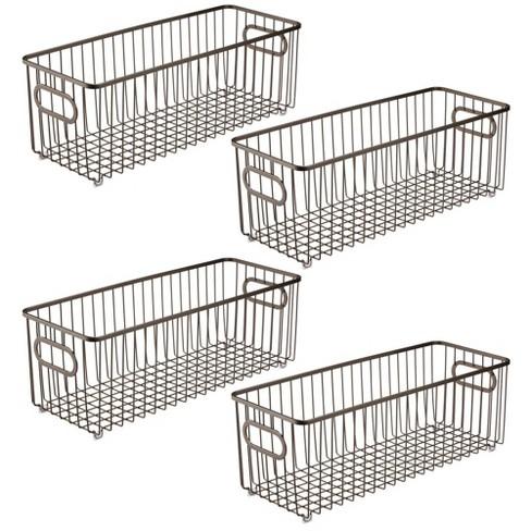 mDesign Deep Metal Bathroom Storage Organizer Basket Bin, 4 Pack - image 1 of 4
