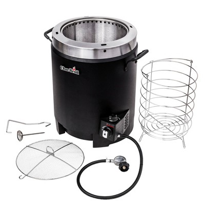 Char-Broil 17102065 The Big Easy Liquid Propane Gas Powered Oil Free Greaseless 16 Pound Turkey Fryer with Basket and Meat Thermometer