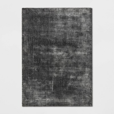 5'X7' Hayes Woven Cut Pile Poly Rug Gray - Project 62™