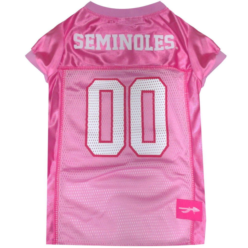 Pets First Florida State Seminoles Pink Jersey - XS, Multicolored