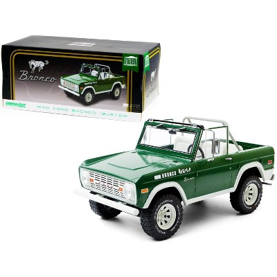 """1970 Ford Bronco """"Buster"""" Green 1/18 Diecast Model Car by Greenlight"""