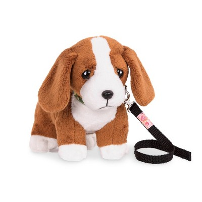 Our Generation Pet Dog Plush with Posable Legs - Basset Hound Pup