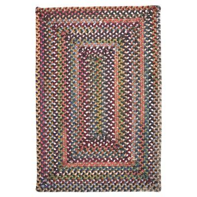 Ridgevale Spacedye Wool Braided Accent Rug - Classic Medley - (3'x5')- Colonial Mills