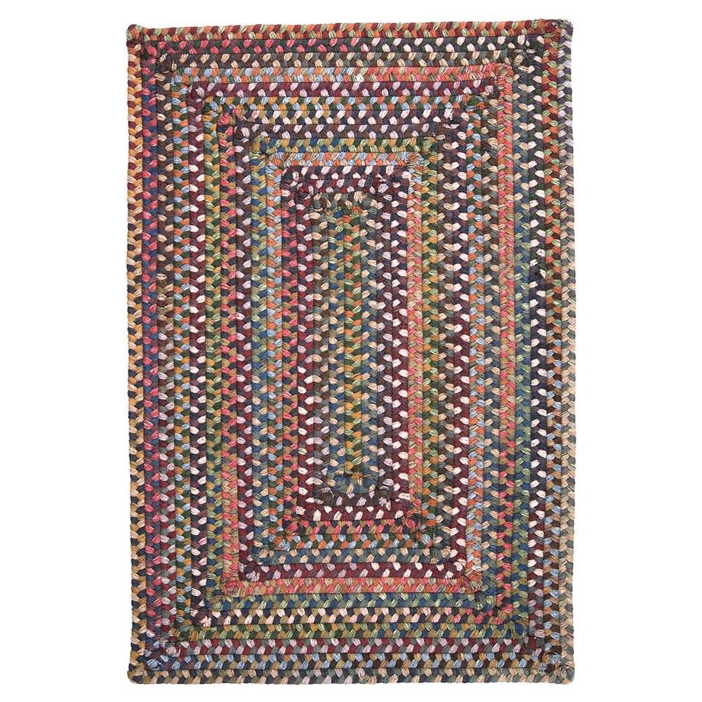 Ridgevale Spacedye Wool Braided Area Rug - Classic Medley - (5'x8') - Colonial Mills