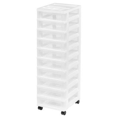 Attrayant IRIS 10 Drawer Plastic Storage Rolling Cart