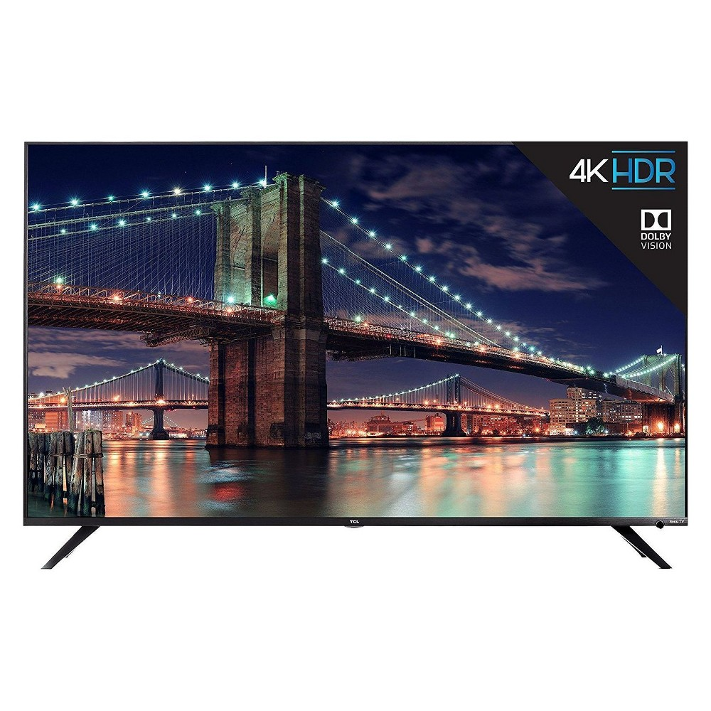 "TCL 65"" Class 4K Dolby Vision HDR Roku Smart LED TV - (65R617)"