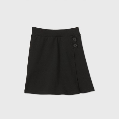 Girls' Stretch Uniform Knit Skorts - Cat & Jack™ Black