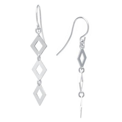 Sterling Silver Drop Earrings - Silver - image 1 of 1
