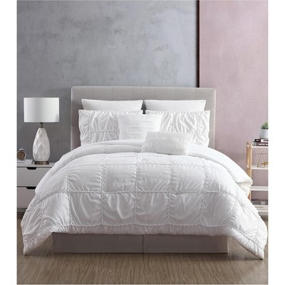 Modern Threads 7 Piece Embellished Comforter Set Kate White.