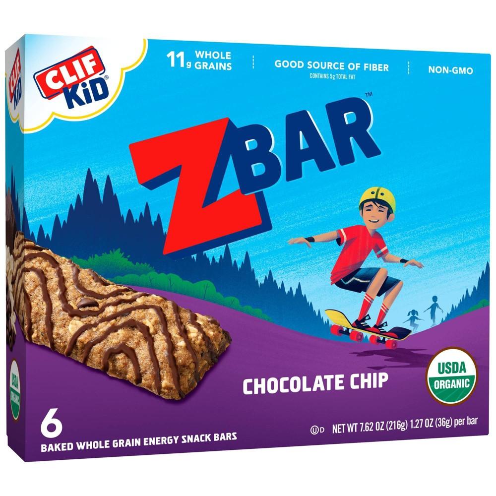 Clif Kid Zbar Organic Chocolate Chip Snack Bars 6ct