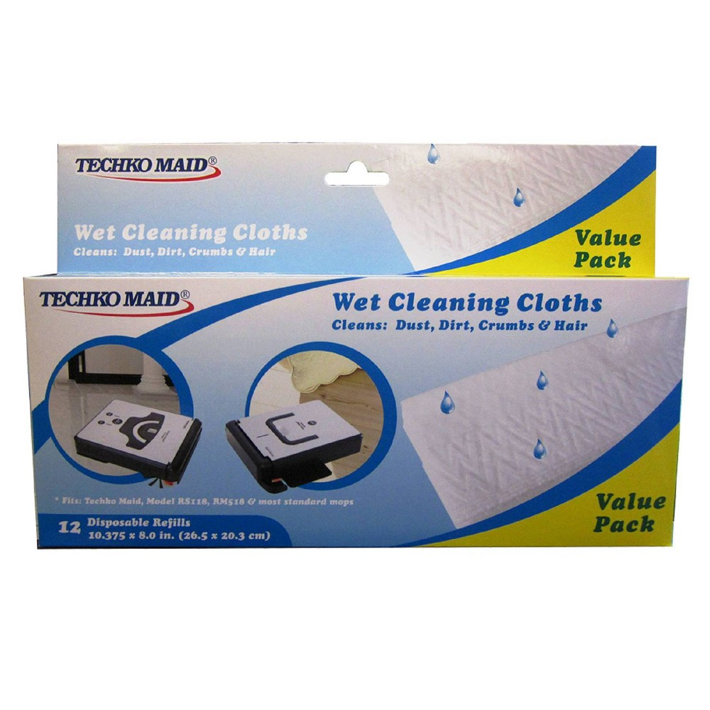 Image of KOBOT Disposable Wet Cleaning Cloths (12pk) for RS118, RV312 & RCS212