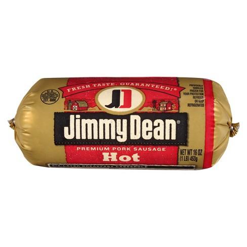 Jimmy Dean Hot Pork Sausage Roll - 16oz - image 1 of 3