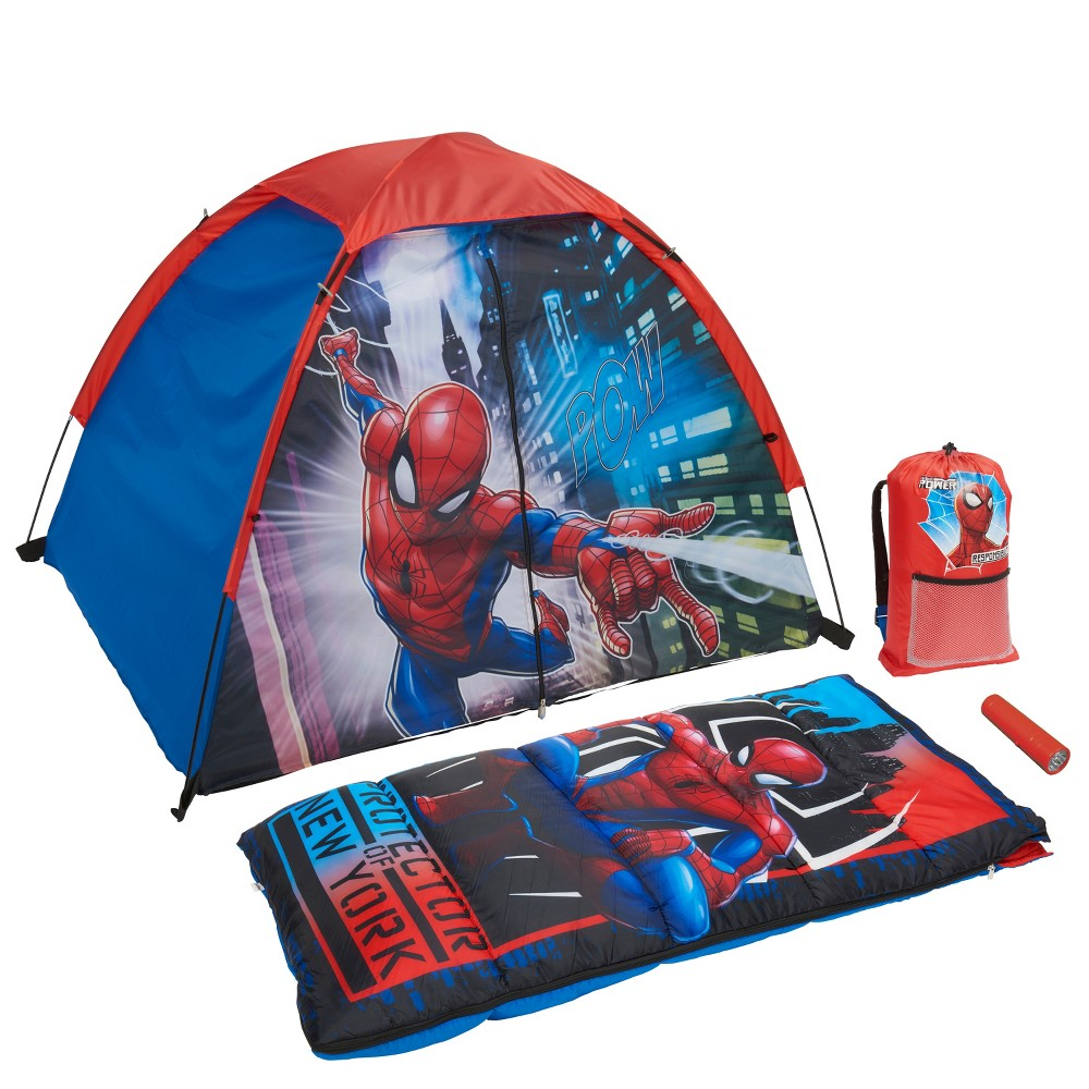 Marvel Spider-Man 4pc Camp Kit, Multi-Colored