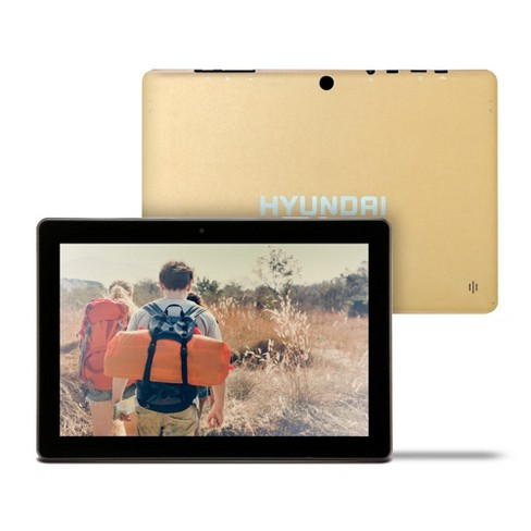 """Hyundai Koral 10"""" Tablet 10X3 2GB 32GB 2MP/5MP Wifi Android 9.0 Gold - image 1 of 4"""