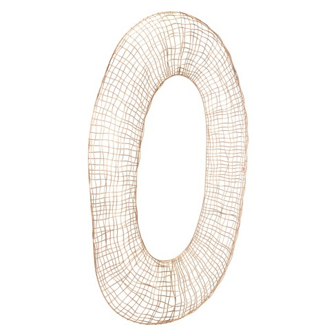 """ZM Home 36"""" Modern Geometric Wall Sculpture Gold - image 1 of 3"""